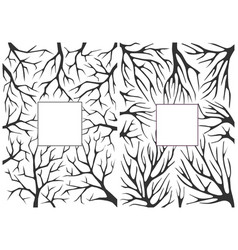 monochrome black and white background with tree vector image vector image