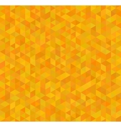 Orange and yellow triangles abstract seamless vector image vector image