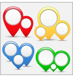 Pointers with Circles vector image vector image