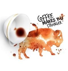 Poster wild coffee buffalo vector image vector image