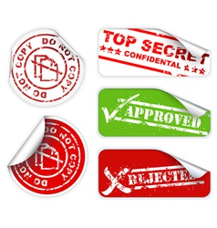 top secret labels vector image