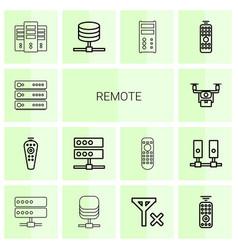 14 remote icons vector