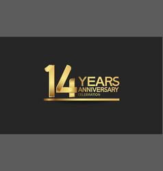 14 years anniversary celebration with elegant vector
