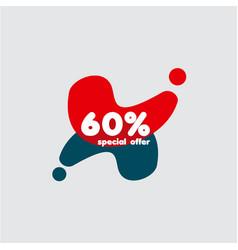 60 special offer label template design vector