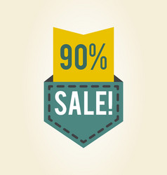 90 off sale clearance icon vector image