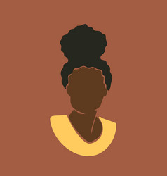 Abstract african woman portrait with hair in bun vector