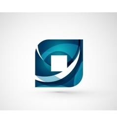 Abstract geometric company logo square rhomb vector