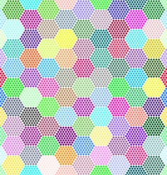 Abstract Hexagon Dots background vector image