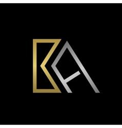 Ba letters logo vector