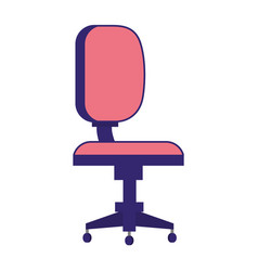Bank work chair comfortable isolated vector