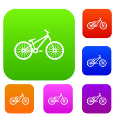 Bike set collection vector
