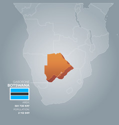 botswana information map vector image