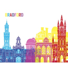 Bradford skyline pop vector image