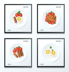 breakfast foods set vector image