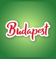 budapest - hand drawn lettering vector image
