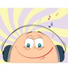 Cartoon music vector