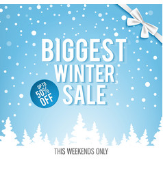 Christmas biggest winter sale poster vector
