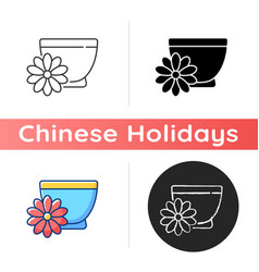 Chrysanthemum tea icon vector