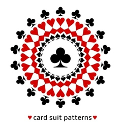 Club card suit snowflake vector