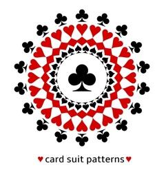 Club card suit snowflake vector