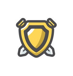 coat arms icon cartoon vector image