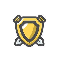 coat arms icon cartoon vector image