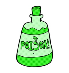 comic cartoon bottle of poison vector image vector image