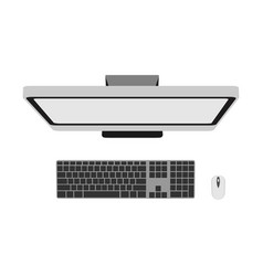 computer top view technology business office vector image