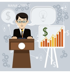 Concept for business meeting and presentation vector
