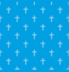 Crucifix pattern seamless blue vector