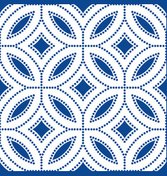 Dark blue flower pattern beads background vector
