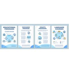 educational program brochure template vector image