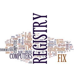 Fix registry problems on your own text background vector
