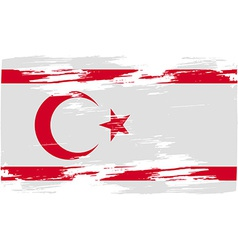 Flag of Turkish and Northern Cyprus with old vector image