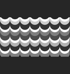 flat fashionable stylish wavy background vector image