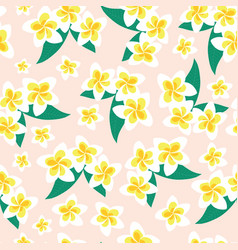frangipani flower seamless pattern vector image