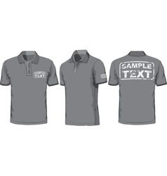 front back and side views polo-shirt vector image