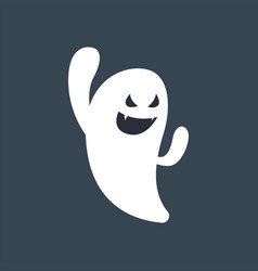 ghost logo icon vector image