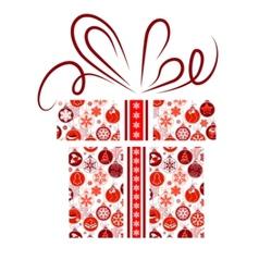 Gift box made of christmas symbols vector