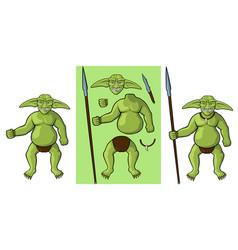 Goblin body parts vector