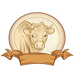 Graphical bull vector image