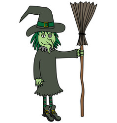 Green witch vector