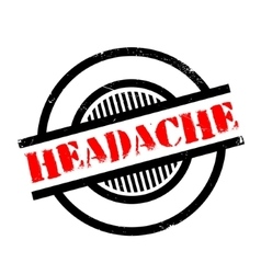Headache rubber stamp vector