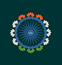 indian flag wheel vector image
