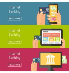 Internet banking online purchasing and transaction vector
