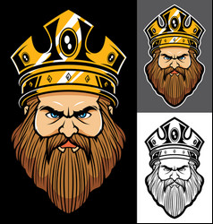 king face mascot vector image