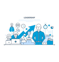 Leadership skills career success and education vector