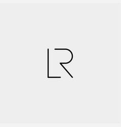 Letter r l rl lr logo design simple vector
