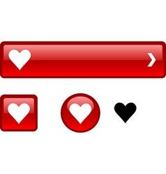 Love button set vector