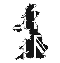 Map uk national flag icon simple style vector
